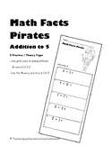 Math Facts Practice Addition to 5 :  Add with objects or Addition Fluency to 5