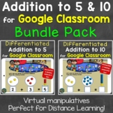 Addition to 5, Addition to 10 Distance Learning for Google
