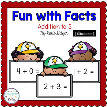 Addition to 5 BOOM CARDS Fun with Facts: Addition to 5