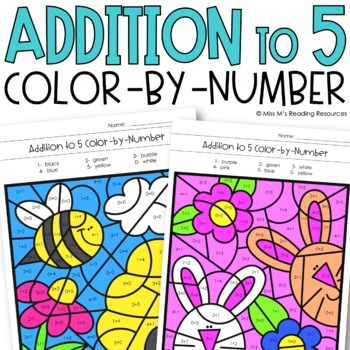 Addition to 5 Color-by-Number