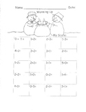 Addition to 5 Fluency Drills Kindergarten Math Common Core 13 pages K.OA.5