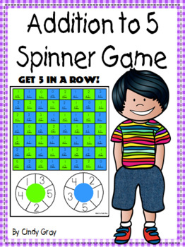 Addition to 5 Spinner Game