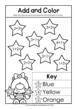Addition to Five Worksheets, Add Up to 5, First Addition