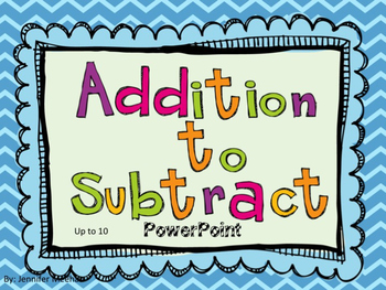 Addition to Subtract Powerpoint