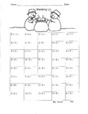 Addition to Ten  Fluency Drills   6 pages  First 1st Grade Math  Common Core