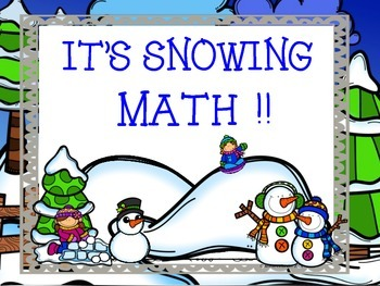 IT'S SNOWING MATH ~ WINTER FUN!