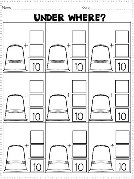 Addition to Ten (Low Prep) Game: Under Where?