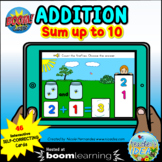 Addition up to 10 with Visual Support Boom Cards™ -  Firef