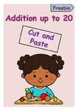 Addition up to 20 (Cut and Paste) *** Freebie