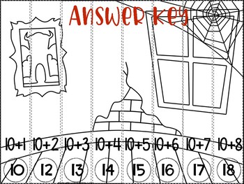 Addition up to 20 Halloween Puzzles