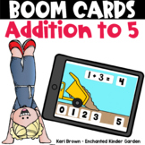 Addition up to 5 -  Boom Cards