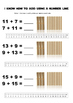 Addition using a number line and bundling sticks