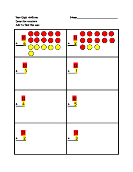 Addition Worksheet (Single and Two digit)