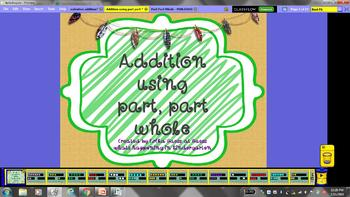 Addition using part part whole and number sentences flipchart