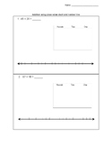 Addition using place value chart and number line
