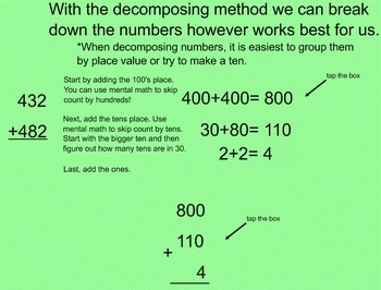 Addition using the decomposing method