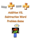 Common Core Addition vs Subtraction Word Problem Game