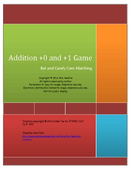 Addition with +0 and +1 - Bat Matching Game