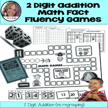 Addition with 2 Digit Numbers - Copy, Cut, Play!