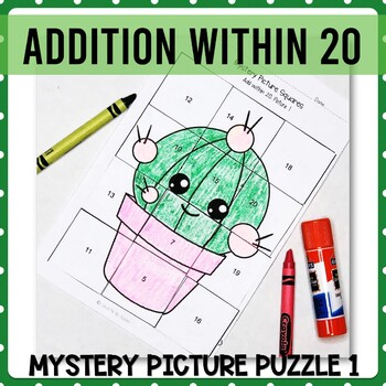 Addition with 20 mystery picture 1
