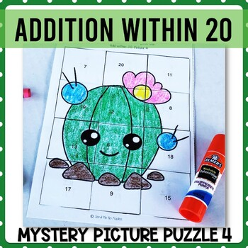 Addition with 20 mystery picture 4