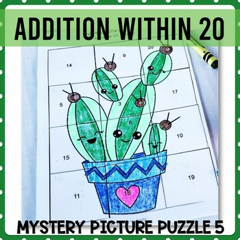 Addition with 20 mystery picture 5