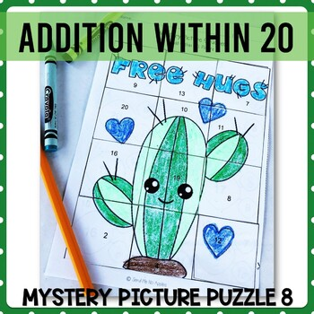 Addition with 20 mystery picture 8
