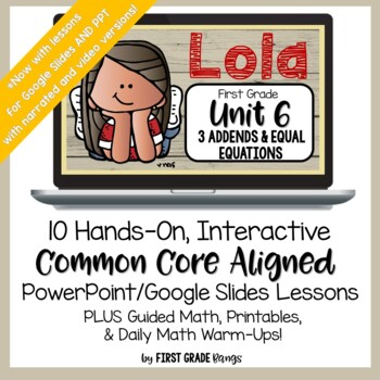 Distance Learning* Addition with 3 Addends Easy Math Lessons for Home/School