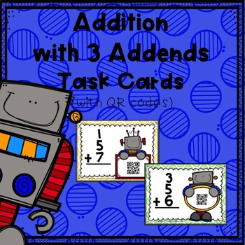 Addition with 3 Addends Task Cards