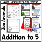 Addition within 5   Zoo Animals
