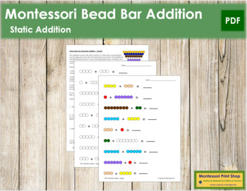 Addition with Bead Bars - Simple