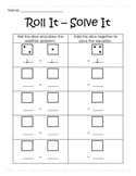 Addition with Dice - Roll It, Solve It