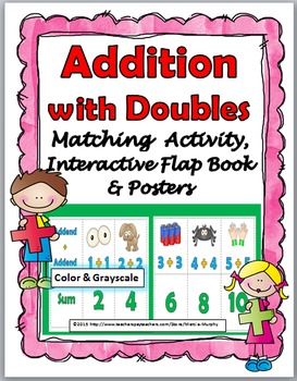 Doubles Addition Activity, Interactive Flap Book & Posters