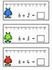Addition with Number Line Write and Wipe Cards