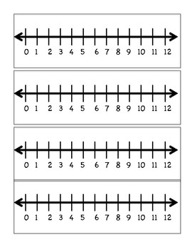 Addition with Number Lines Practice Game. Common Core Aligned