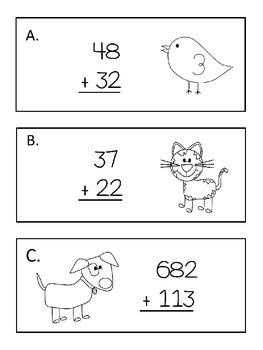 Addition with Number Lines Scavenger Hunt