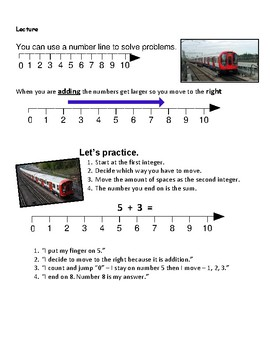 Addition with Number Lines