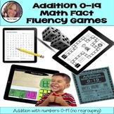 Addition 0-19 Math Fact Fluency Games