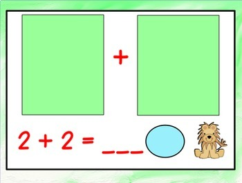 Addition with Pictures Numbers 0-10 (An Interactive Promethean Board Flipchart)