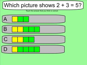 Addition with Pictures - Practice Problems - Smartboard