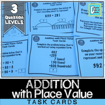 Addition with Place Value Task Cards