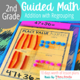 Addition with Regrouping: 2 & 3 Digit Numbers and 3 & 4 Addend Practice