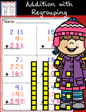 Addition with Regrouping Worksheets - Adding 3 Numbers