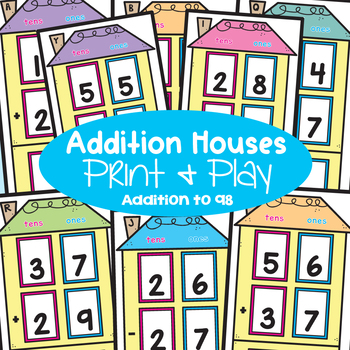 Addition with Regrouping Activity Cards