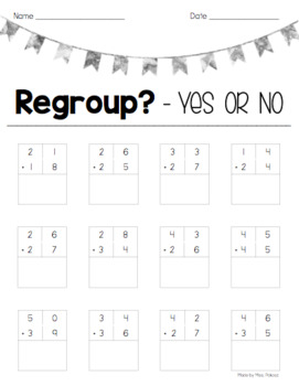 Addition with Regrouping - Differentiated Activity Pack!