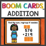Addition with Regrouping Boom Cards™ Digital Activities