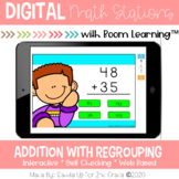 Addition with Regrouping Digital Task Cards | Boom Cards™