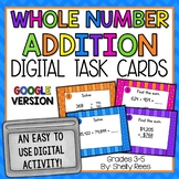 Addition with Regrouping - Digital Task Cards Google Version