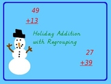 Addition with Regrouping Holiday Mystery