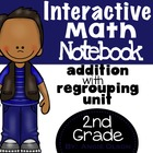 Addition with Regrouping:  Interactive Notebook Pages